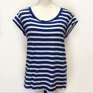 Gap Tee Blue Stripe Medium Top
